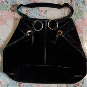 Lucky Brand Black Leather Hobo Bag